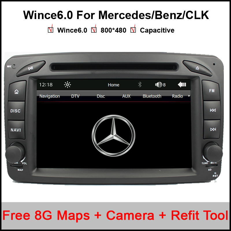 2 Din 7 Inch Car DVD Player For Mercedes/Benz/CLK/W209/W203/W168/W208/W463/W170/Vaneo/Viano/Vito/E210/C208 Canbus FM GPS BT Map