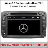 2 Din 7 Inch Car DVD Player For Mercedes/Benz/CLK/W209/W203/W168/W208/W463/W170/Vaneo/Viano/Vito/E210/C208 Canbus FM GPS BT Map