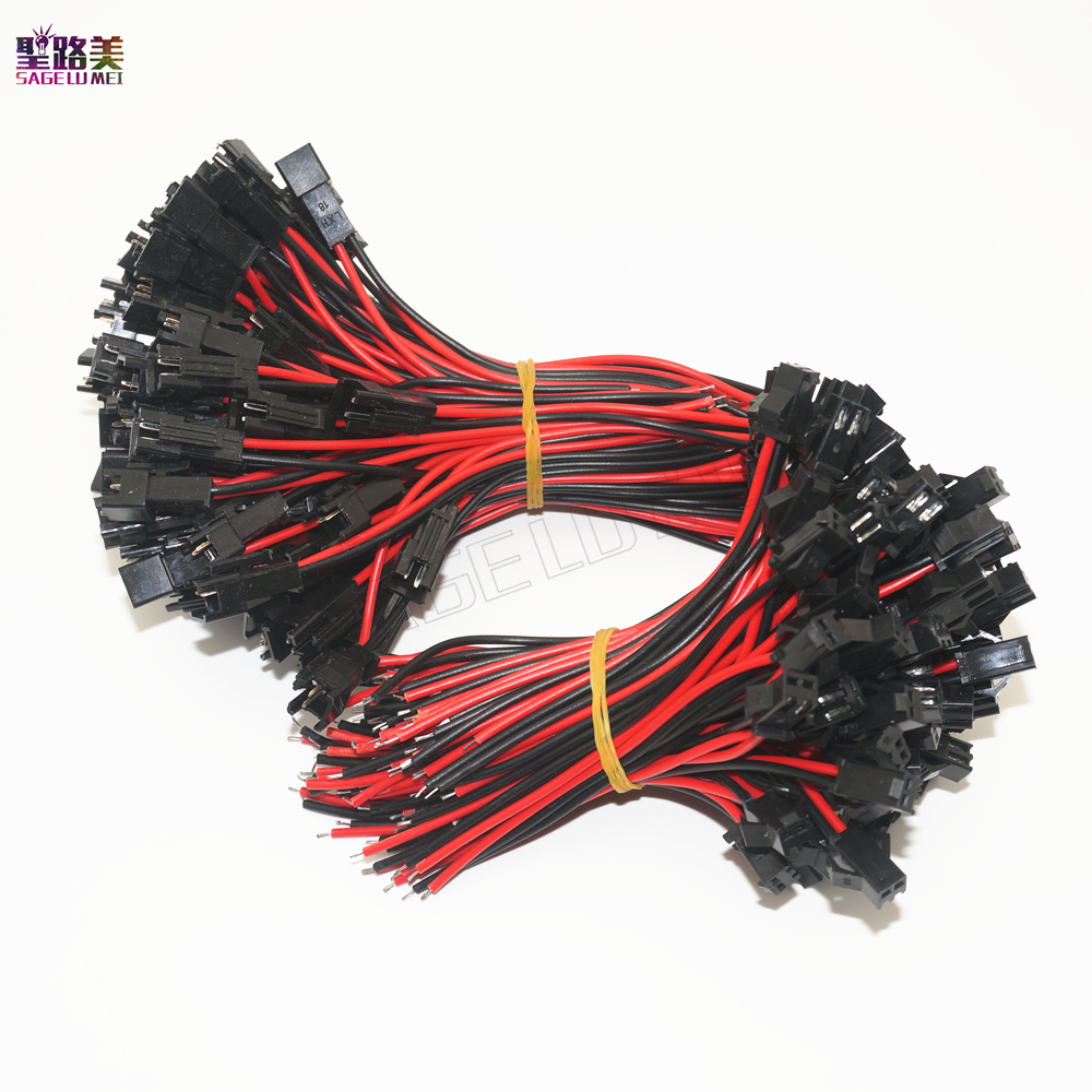 где купить 15 pairs 2 pin Male/female JST SM 2Pin Plug Connector 2x14cm 2pin Wire cable pigtail for single led strip light Lamp Driver CCTV дешево