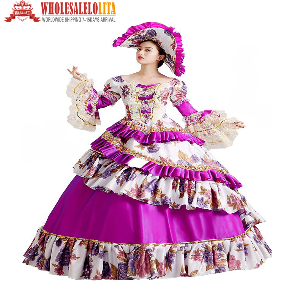 ΞCaliente! Freeshipping rococó princesa vestido 18th siglo partido ...