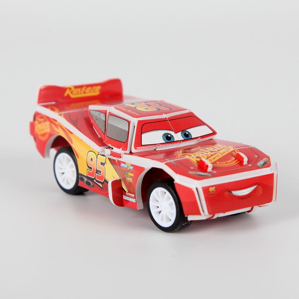 Carros relâmpago 3d puzzle jigsaw board desenhos animados tangram puxar para trás festa de aniversário suprimentos presente do miúdo brinquedo mater