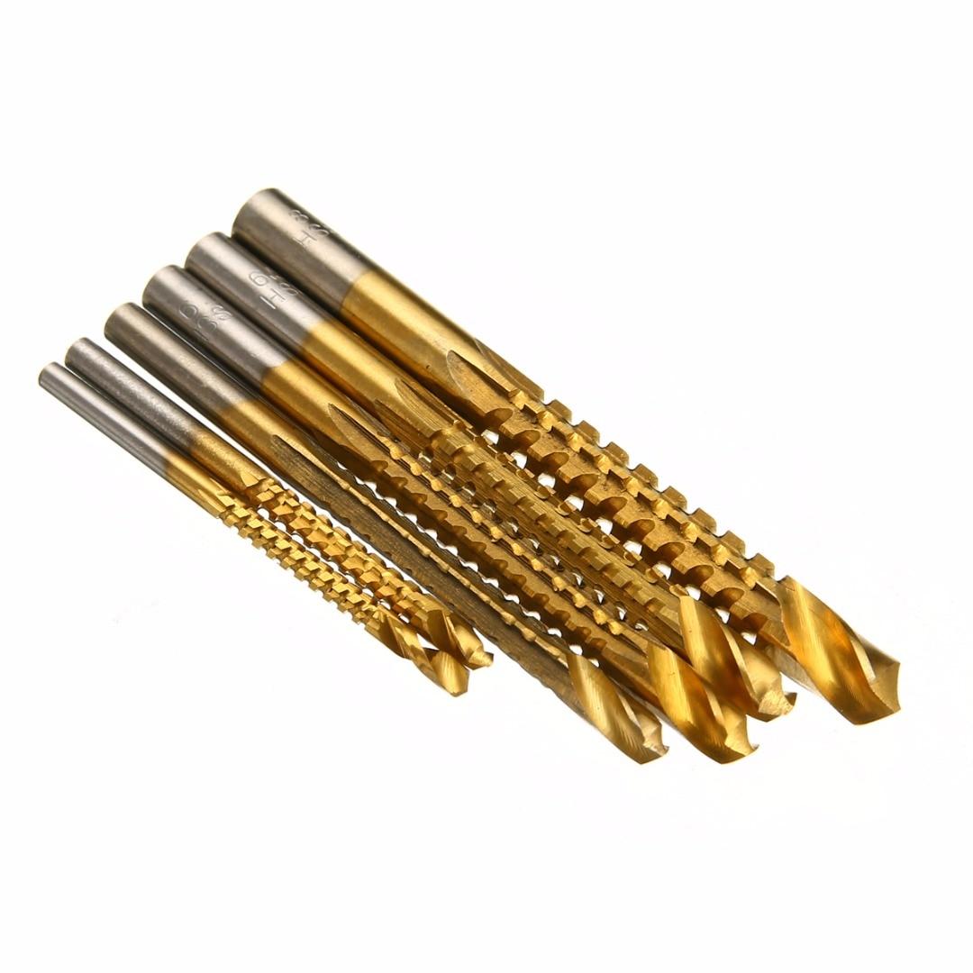 6pcs HSS punta di trapano rivestita in titanio set taglierina per - Punta da trapano - Fotografia 3