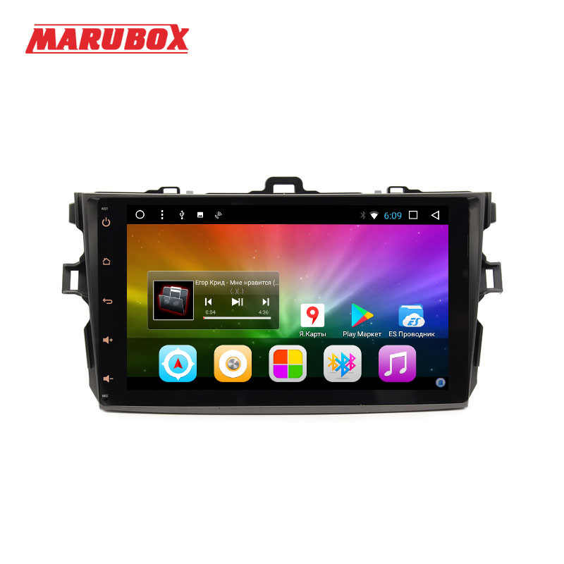 "MARUBOX 9A101T3 Quad Core Android 7.1 Car Multimedia Player for Toyota Corolla 2006-2011 Quad Core Allwinner T3 9""IPS 1024*600"