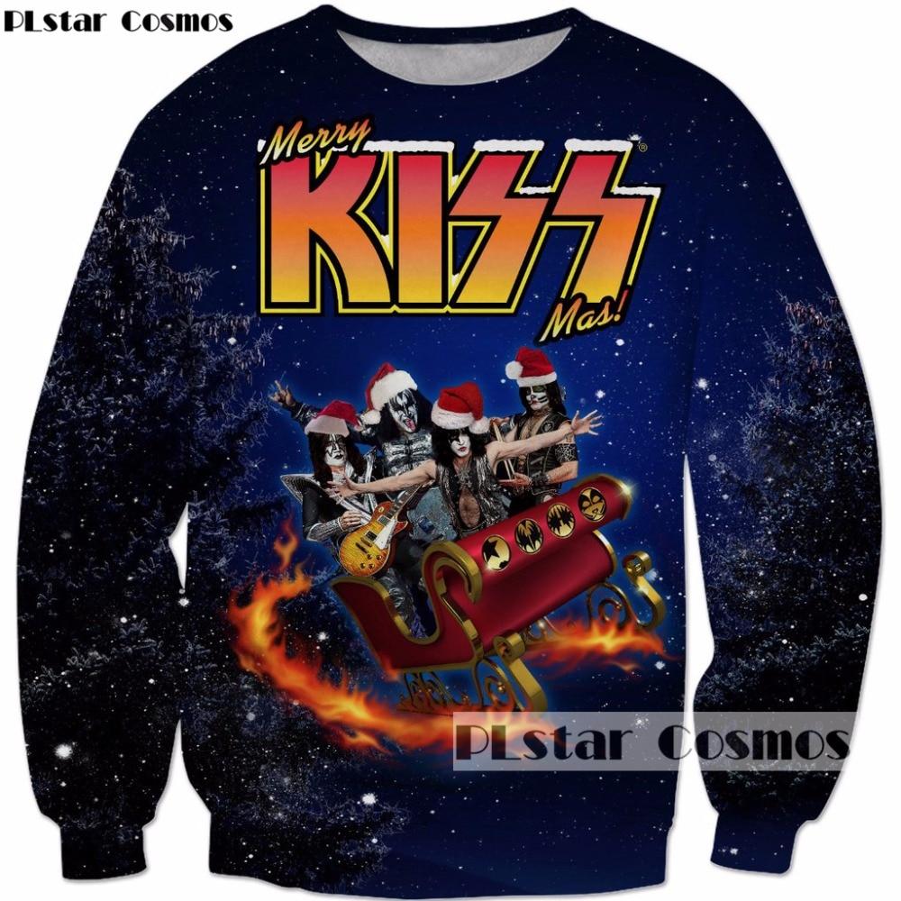 PLstar Cosmos 2017 Christmas new style Fashion Sweatshirts Santa Is ...