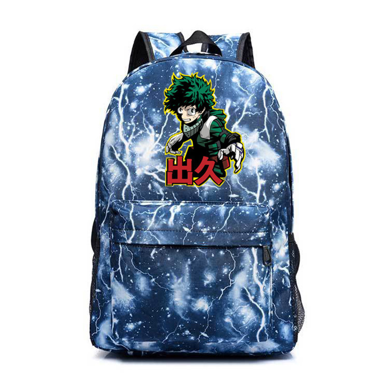 New My Hero Academia Midoriya Izuku Sac A Dos Backpacks Male/female Boku No Hero Academia School Shouler Bag Rucksack