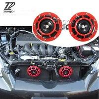 ZD 2X Car styling For Skoda Octavia A5 A7 2 Fabia Yeti BMW E60 F30 X5 E53 M3 Inifiniti Air Red Horn alarm loudspeaker Blast Tone