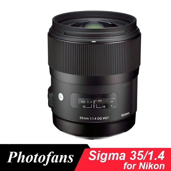 Objectif d'art Sigma 35/1. 4 pour Nikon 35mm f/1.4 DG HSM objectif d'art pour Nikon D7100 D7200 D500 D610 D700 D750 D800 D810 Df D4 D5