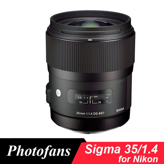 Sigma 35/1.4 Art lens for Nikon 35mm f/ 1.4 DG HSM ART Lens for Nikon D7100 D7200 D500 D610 D700 D750 D800 D810 Df D4 D5 new sigma 50 100mm f 1 8 dc hsm art series lens for canon