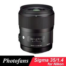 Sigma 35/1. 4 Sztuki obiektyw nikon 35mm f/1.4 DG HSM ART Obiektywu dla Nikon D7100 D610 D810 D800 D700 D750 D7200 D500 Df D4 D5