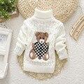 Bebé Chicas Chicos Suéter jumper Otoño Invierno Suéteres de Dibujos Animados Para Niños de Punto Jerseys Suéter de Cuello Alto ropa de Abrigo Abrigo Abrigo