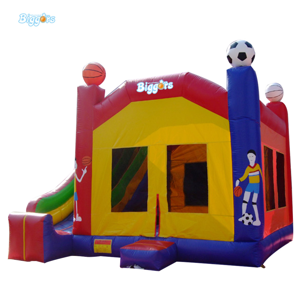 Interesting Inflatable Bouncer Combo Toys with Slide for Rental Use 6 4 4m bounce house combo pool and slide used commercial bounce houses for sale