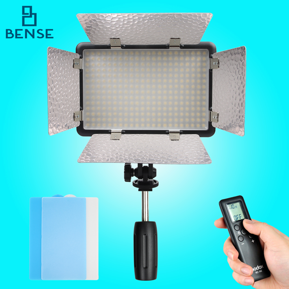 GODOX LED308Y II  Wireless Remote Control Photo Video Light 3300K Photographic studio LED Video Light godox professional led video light led308y yellow version wireless 433mhz grouping system 308 led bulbs of high brightness
