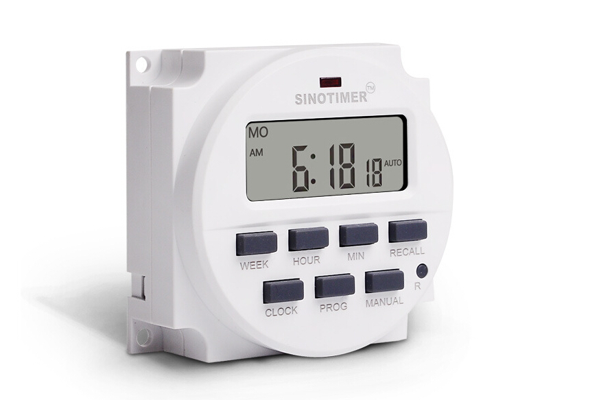 SINOTIMER LCD Big DISPLAY Timer  7 Days Programmable Time Switch 110V Volt ACwith UL listed relay inside for Time Control 0 01 999 second 8 terminals digital timer programmable time relay