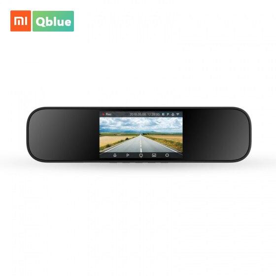 Tüketici Elektroniği'ten 360 ° Video Kamera'de Xiaomi Mijia dikiz aynası araba kamera akıllı kamera 1080P HD 5 inç IPS ekran IMX323 görüntü sensörü sürüş kaydedici araba için