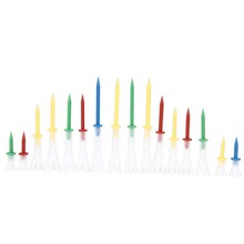 16pcs/set Mixed Color Golf Tee Durable 4 Yards Gonkux Tee 4x Variety Four Pack 4 of 16 Tees Driver Golf Accessory Freeship