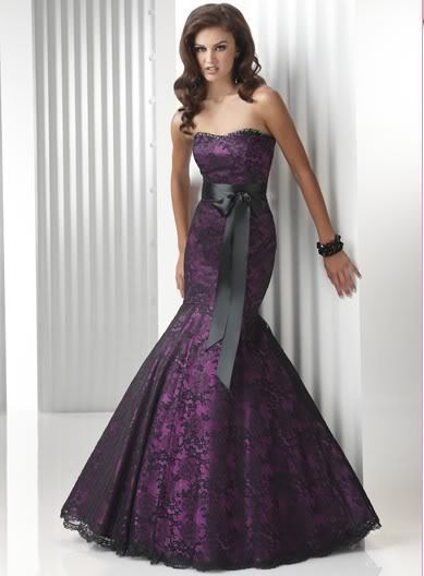 free shipping 2018 new design Strapless Purple Lace Mermaid custom lace Party Formal Evening gowns Mother