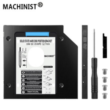 MACHINIST HDD caddy 12.7mm aluminum optibay SATA3.0 Hard Disk Drive enclosure DVD adapter 2.5