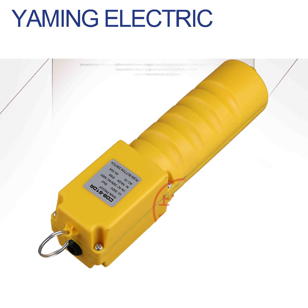 цена на P270 1PCS COP-21R COB-61R Rainproof Push Button Switch for Electric Hoist Crane Control Driving switch NO 6A 220-380V