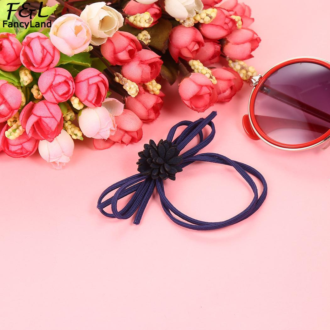 Polyester Womens Fashion New Floral Elastic Headband Hair Decorations Head Piece
