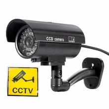 Waterproof indoor and outdoor fake camera virtual closed circuit TV security surveillance camera night CAM LED
