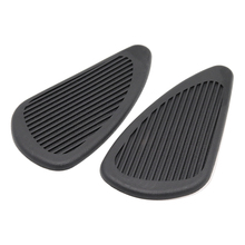 Black Brown Motorcycle Rubber Vintage Gas Tank Knee Pads Side Panel Traction Pad Sticker For Harley Cafe Racer Classic Universal