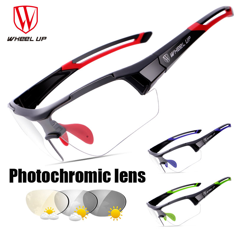 Wheel up Photochromic Lens Cycling Glasses Outdoor Bike Bicycle MTB Road Sports Bike Cycling Eyewear Anti-UV Bicycle Goggles wheel up photochromic cycling glasses discoloration glasses mtb road bike sport sunglasses bike eyewear anti uv bicycle goggles