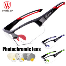 Wheel up Photochromic Lens Cycling Glasses Outdoor Bike Bicycle MTB Road Sports Bike Cycling Eyewear Anti-UV Bicycle Goggles