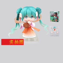 Mid-Autumn Festival mooncake Japanese Anime Hatsune Miku Cartoon Model can change the face boxed Action & Toy Figures GH324