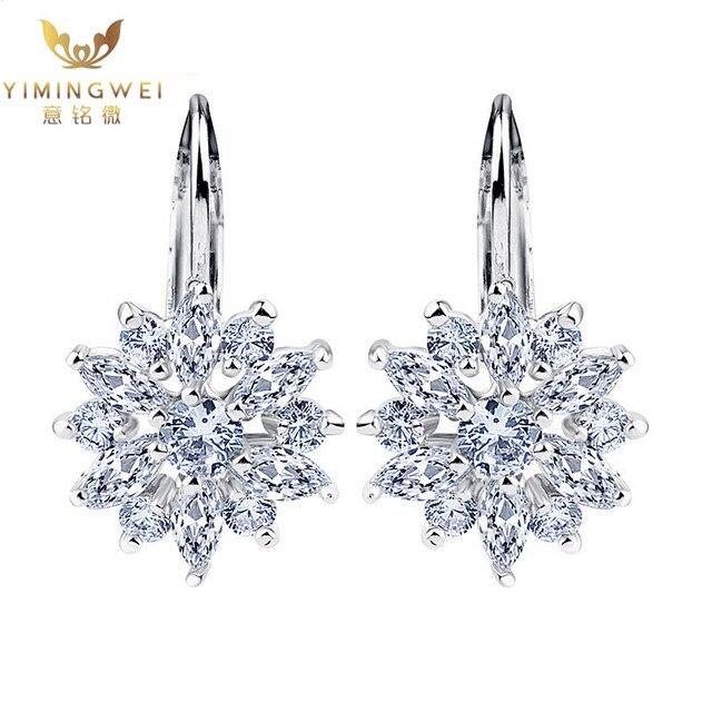6aa830a88bed  YMW  precio Barato Comprar joyas de Moda De Lujo Champagne Oro Pendientes  Flor con