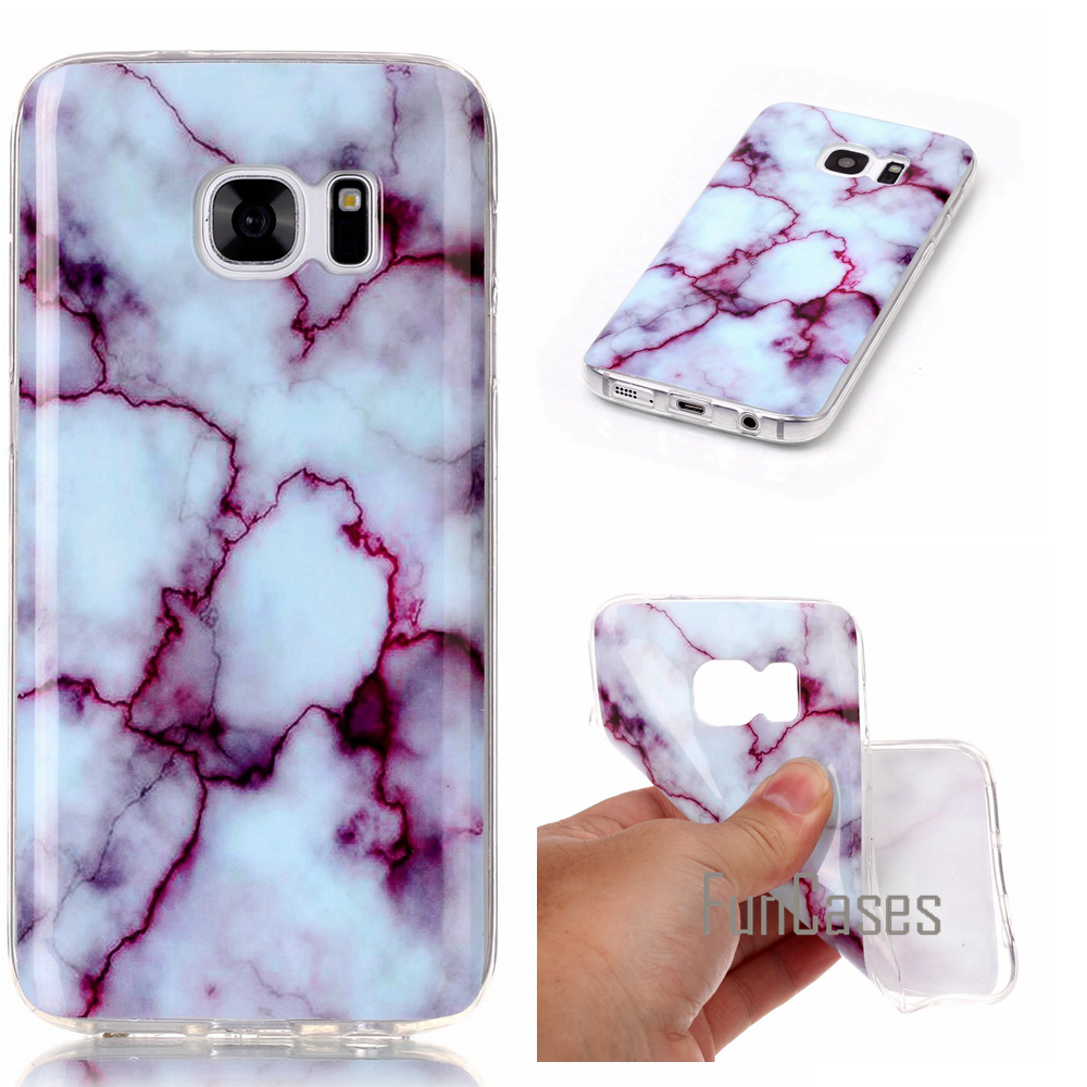 Silicone Marble Vein Case For fundas Samsung Galaxy S7 Case S7 G930 G9300 5.1 inch sumsong duti snmsung phon snmsung