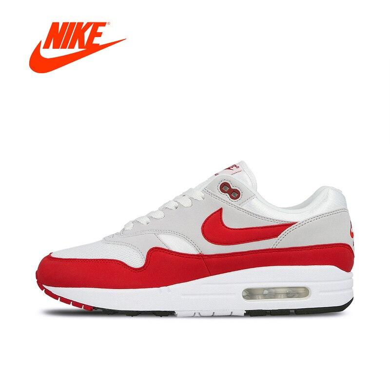 Nike AIR MAX 1 ANNIVERSAIRE Hommes Chaussures de Course Sport En Plein Air Sneakers pour Hommes De Marque De Sport Original Authentique 908375-103