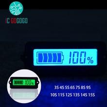 3วินาที4วินาที5วินาที6วินาที7วินาที8วินาที10วินาที12วินาที13วินาที15วินาทีสีฟ้าLY6WลิเธียมLi Ion LiPoแบตเตอรี่ตัวบ่งชี้ความจุจอแสดงผลLCDที่เหลือตรวจจับทดสอบ