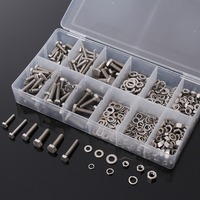 Brand New High Quality 475pcs Metric Washers Nuts And Bolts Kit Hard Disk Screw Washer Hexagon