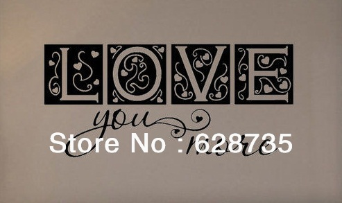Love You More Wall Art aliexpress : buy large size free shipping bedroom decor love