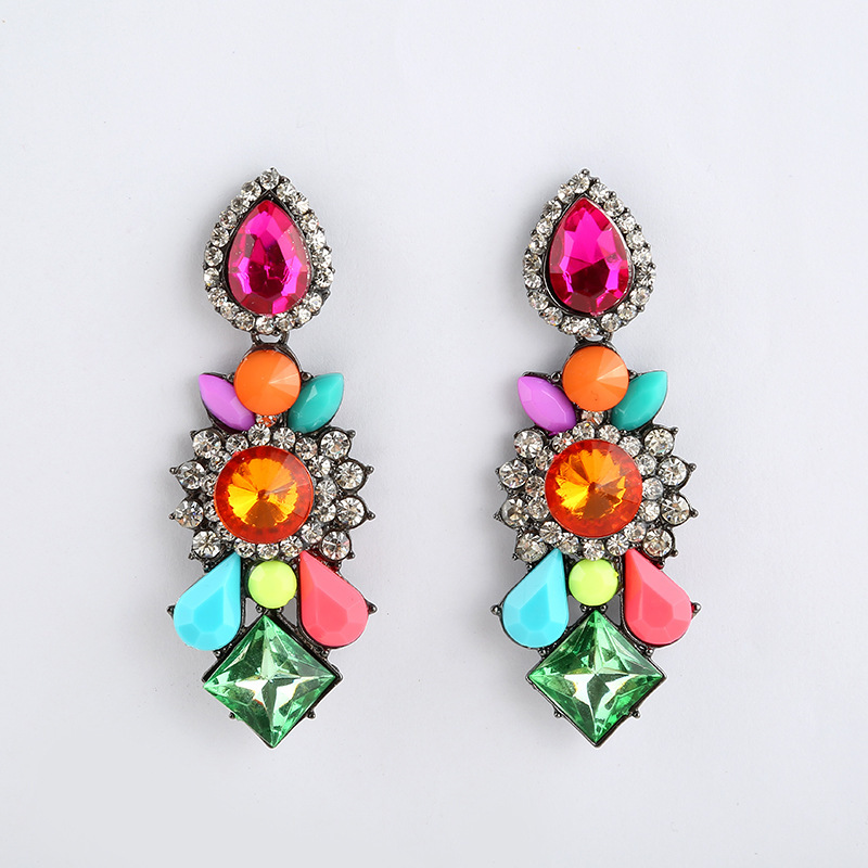 Luxury Crystal Rhinestone Waterdrop Big Earrings For Women ...