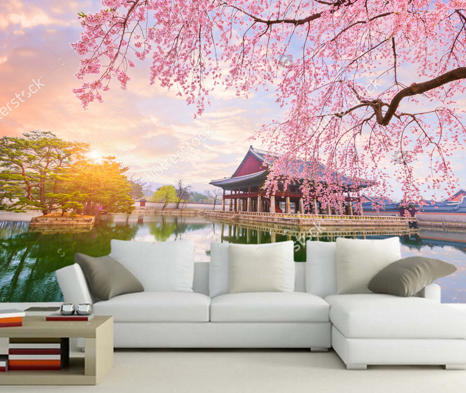 Custom natural landscape wall,Gyeongbokgung palace in seoul city of korea,for living room bedroom sofa background wallpaper pvc ikon 2016 ikoncert showtime tour in seoul live release date 2016 05 04 kpop