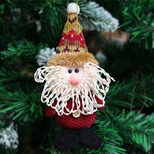 Merry Christmas Santa Doll Pendants Christmas Tree Decoration Hanging Ornaments Crafts Christmas Doll