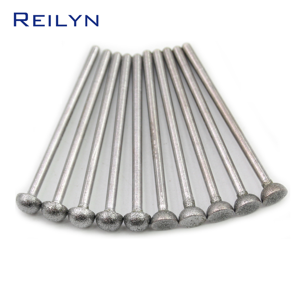 Upper-half Ball Lower-Half Ball Grit 150# Boron Carbide Diamond Grinding Burr Teeth Grinding Bits Abrasive Point Polishing Bits