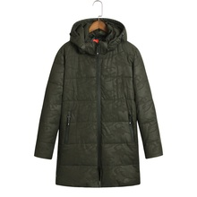 2017 Winter Jacket Men Cotton Padded Long Thick Warm Casual Hooded Mens Winter Parkas Size 6XL 7XL 8XL