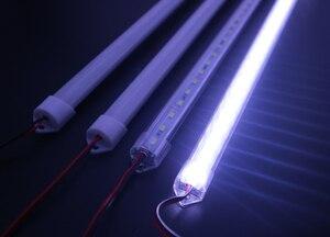 Image 4 - 5 個 * 50 センチメートル工場卸売 DC 12 V SMD 5730 5630 LED ハード剛体ストリップバー照明アルミシェル + pc カバー LED バーライト 5730