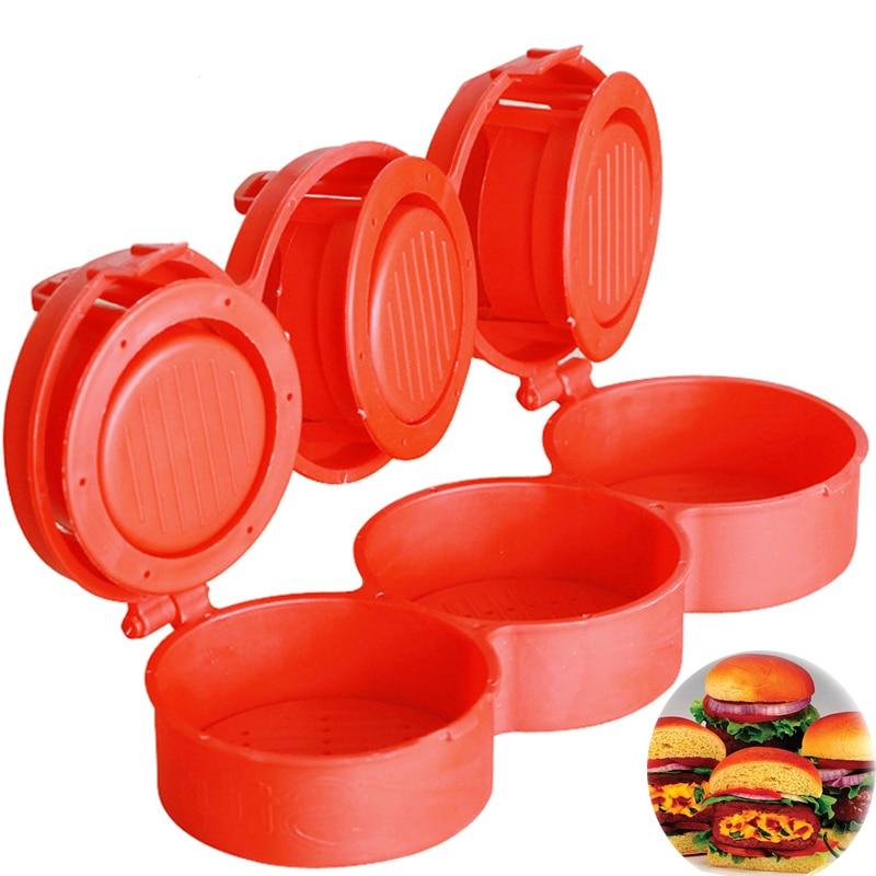 New1pc пластиковый пресс для гамбургера, DIY Форма для гамбургера, фаршированный слайдер, машина для приготовления гамбургера, тройной пресс для котлет для гамбургеров, пресс форма|hamburger mold|diy hamburgerhamburger maker machine | АлиЭкспресс - ГАМБУРГЕРЫ