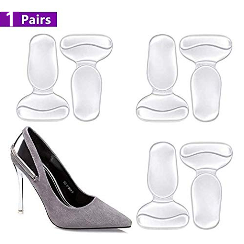 2 Pair Women High Heel Pads Shoes Too Big Heel Cushion Inserts Grips Liners
