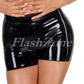 Free shipping!! Black women boxer latex shorts