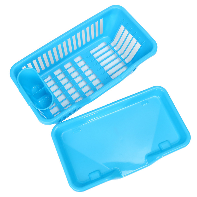 44 5x24x18cm Washing Holder Basket Pp Great Kitchen Sink Dish Drainer Drying Rack Organizer Blue Pink