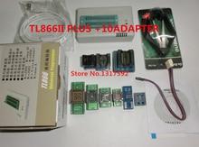 100%Original NEWEST XGecu minipro TL866A/TL866II Plus USB programmer+10 items IC Adapters High speed TL866 Russian Englishmanual