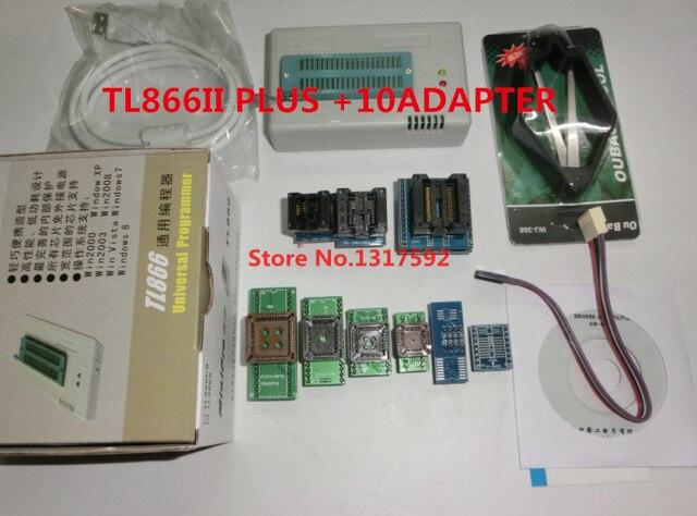100% оригинальный новейший XGecu minipro TL866A/TL866II Plus USB программатор + 10 элементов IC адаптеров высокоскоростной TL866 руководство на русском и английском языке