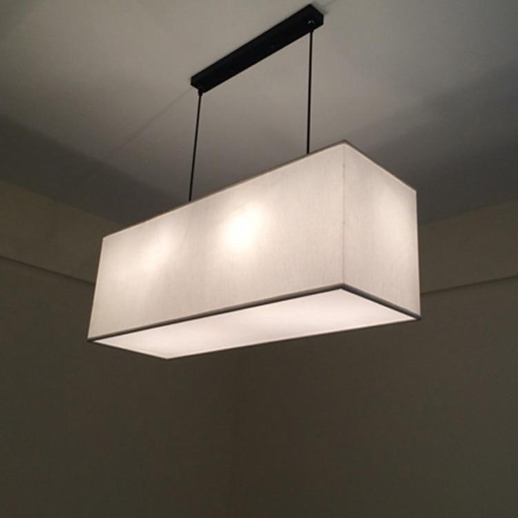 Китайские ткани освещения Подвесные светильники Nordic новый современный минималистский американский стиль гостиная льняной ткани подвесны...