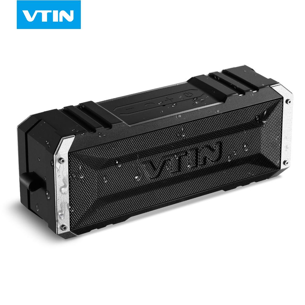 Prix pour VTIN Portable Sans Fil Bluetooth Haut-Parleur 20 W par double dix pilotes résistant à L'eau haut-parleur Basse avec Micro et 4400 mAh pour Ipad & téléphone