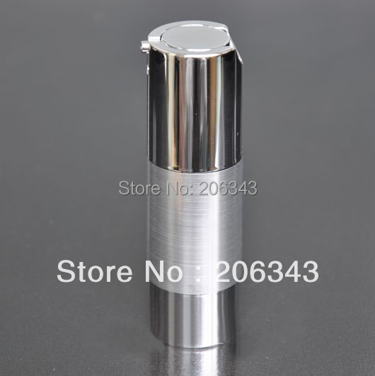 30ml UV silver airless vacuum pump lotion bottle with silver pump silver bottom base used for