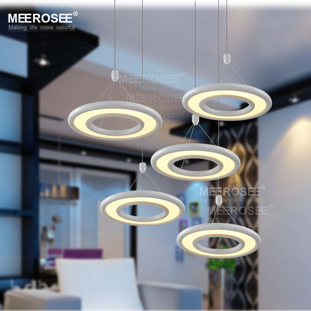 Aliexpress buy modern fashion acrylic led pendant light modern fashion acrylic led pendant light fixture led ring lustres indoor restaurant lights lamp led circle mozeypictures Image collections